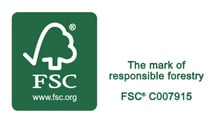 Clothes airer supported by FSC Logo