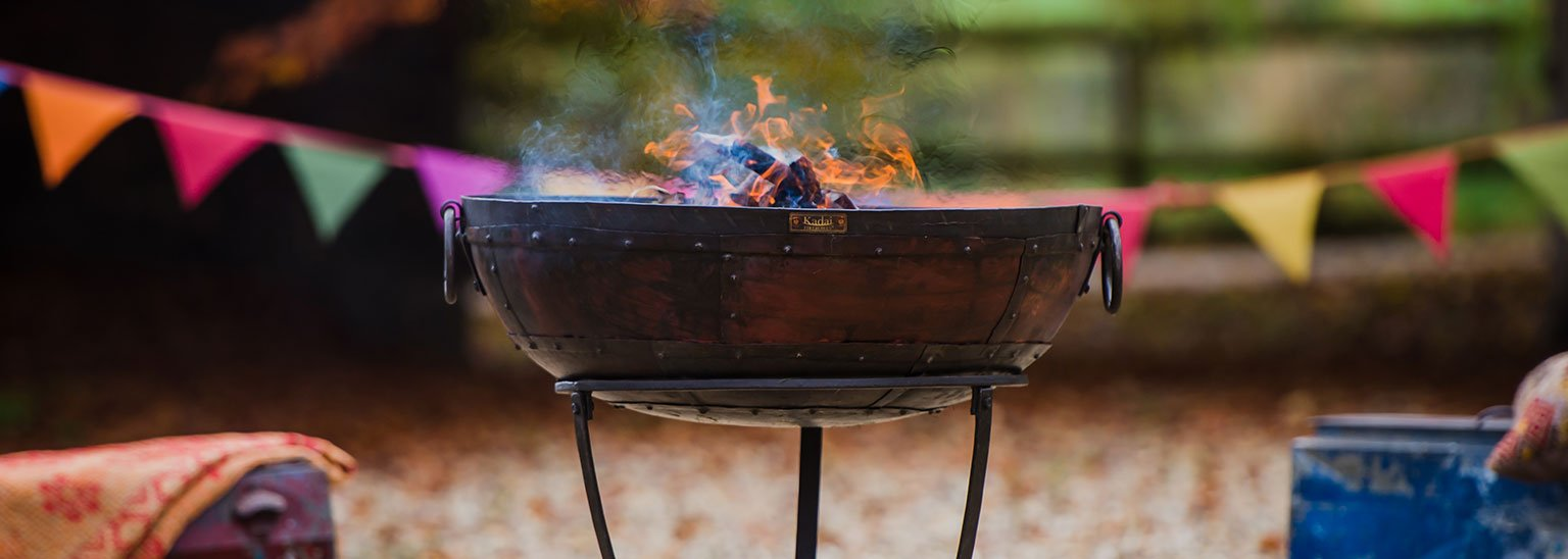 Get the BBQ on this summer with a Kadai and enjoy an open fire after