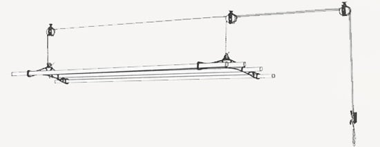 Pulley Clothes airer installation with double pulley