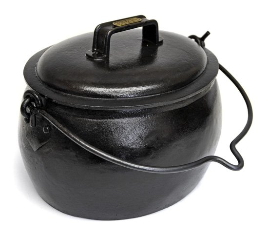 solid cast iron romany gypsy pop belly cooking pot ebay. Black Bedroom Furniture Sets. Home Design Ideas
