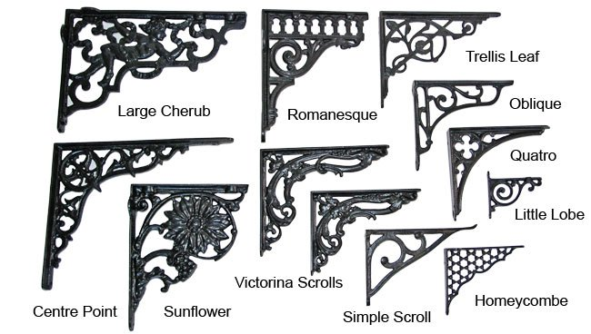 Brass Romanesque Shelf Bracket