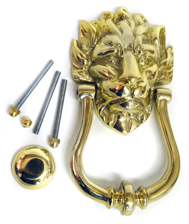 Brass lion head knocker downing street knocker brass for 10 downing street lion authentic foundry door knocker