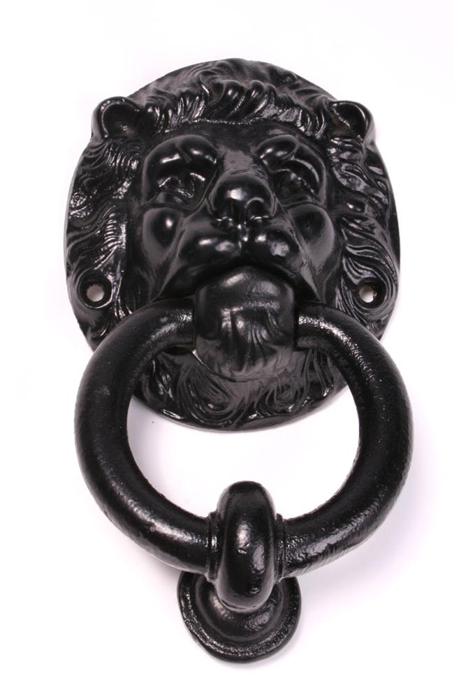 Lion Head Door Knocker Cast Iron Door Knockers Front