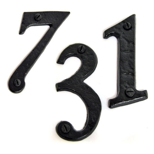 Kirkpatrick black iron classic house letters house for Classic house numbers