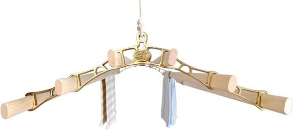 6 lath Brass pulley clothes airer