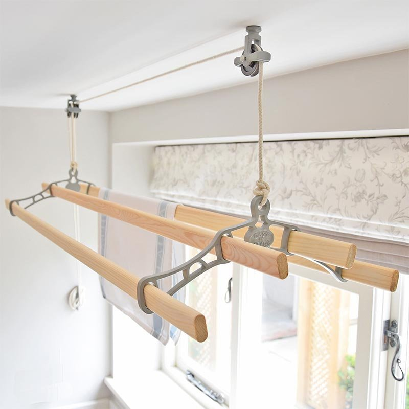 Pulley Clothes Airer Ceiling Clothes Airers Kitchen