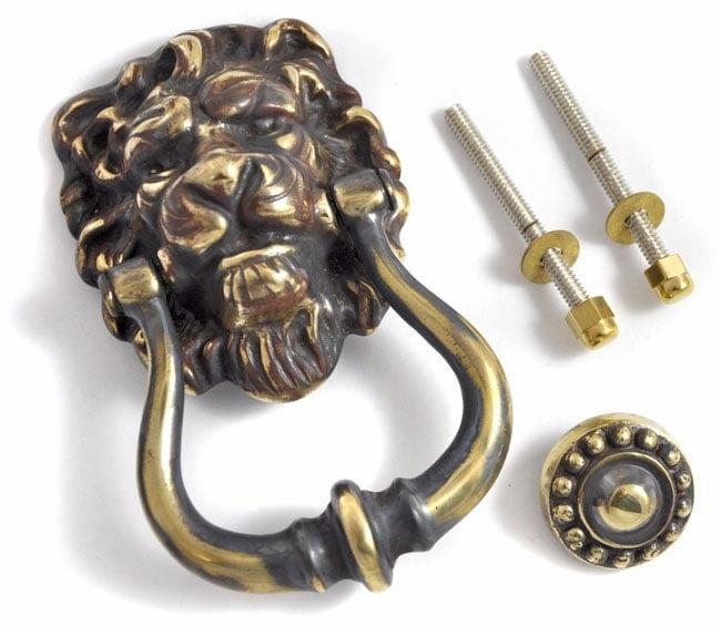Majestic brass lions head door knocker brass door knockers external brass door knockers cast - Lions head door knocker brass ...