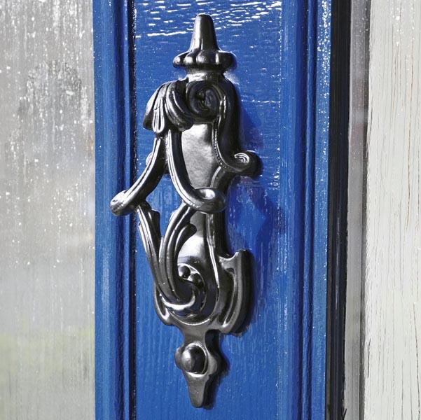 Willow Twist Door Knocker Cast Iron Door Knockers Black