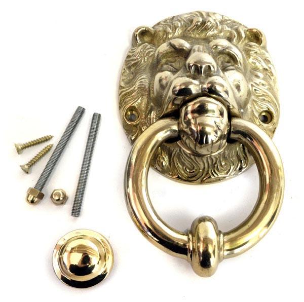 Exceptionnel Brass Lion Head Door Knocker