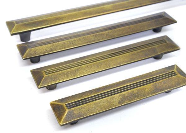 brass pulls. antique brass nouveau pull handle pulls