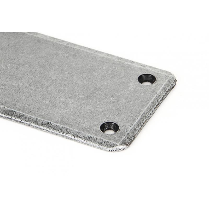 Small Pewter Door Kick Plate: From The Anvil Blacksmith Pewter Patina Finger Plate
