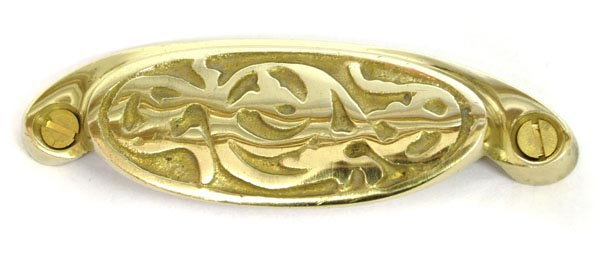 Brass Rambling Brier Drawer Pull