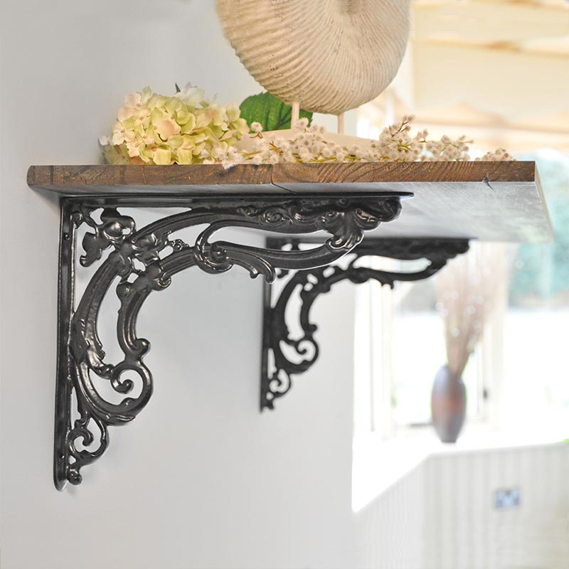 Wrought Iron Shelf Brackets Australia Shelf Design Glass