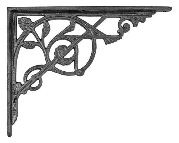 trellis leaf cast iron shelf bracket