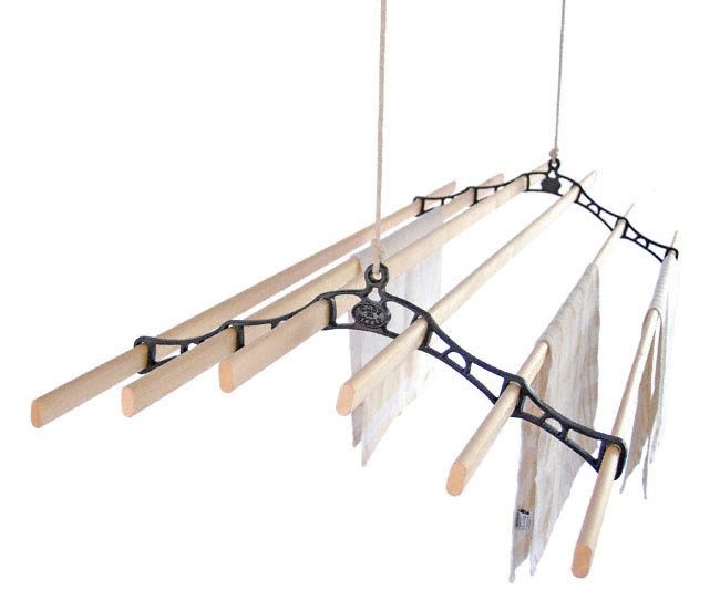 Six Lath Victorian Kitchen Maidandreg Pulley Clothes Airer