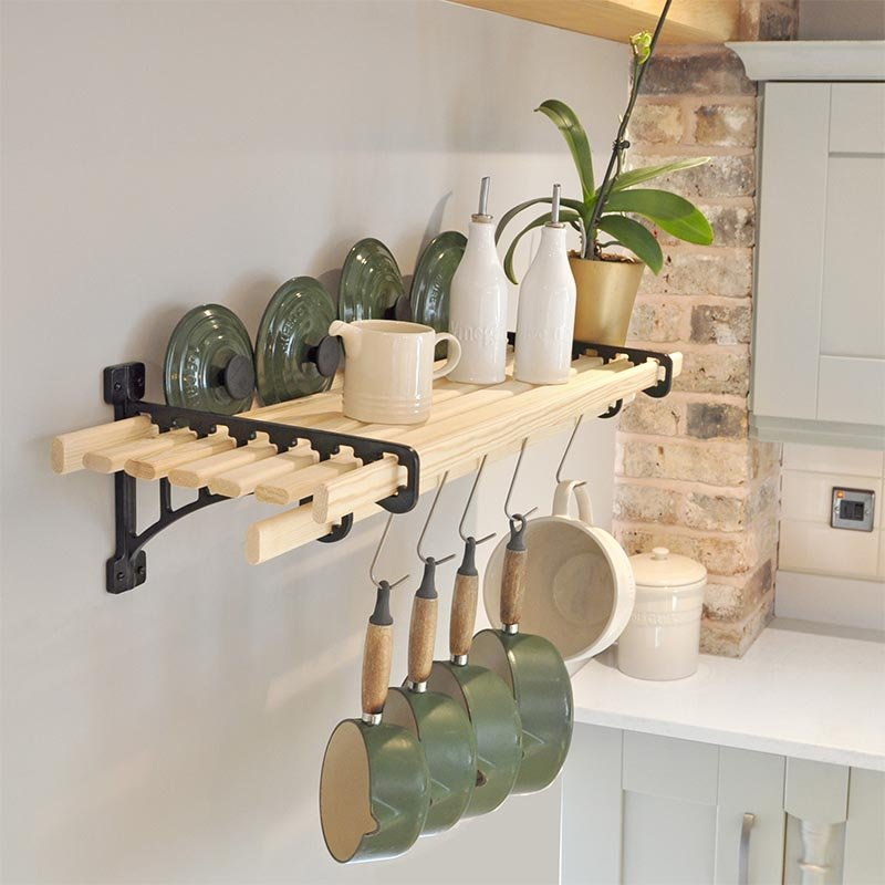 Stockists of 8 Lath Kitchen Shelf Rack