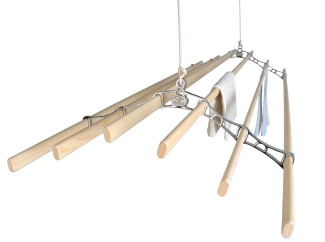Chrome 6 Lath Pulley Clothes Airer Kitchen Maid Super 6