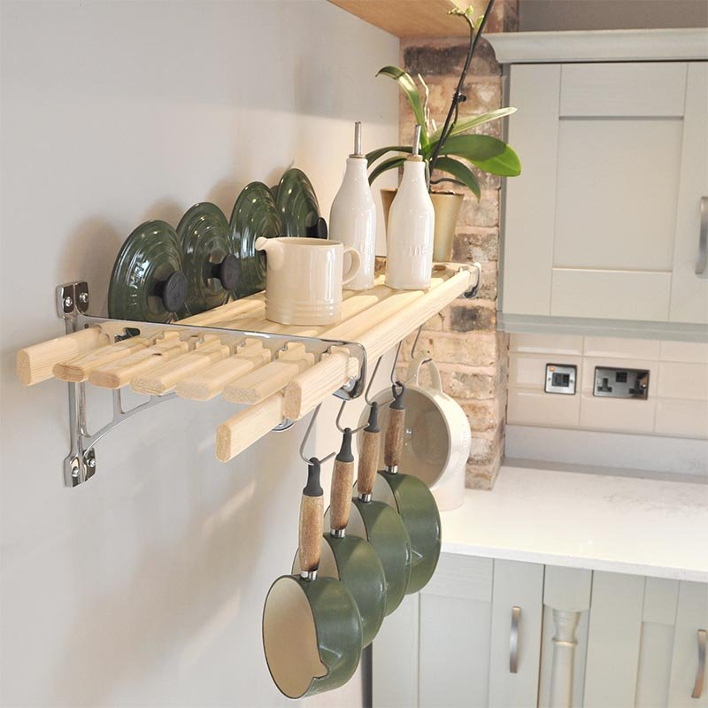 Hanging Open Kitchen Shelves: Chrome 8 Lath Kitchen Shelf Rack Shelf Racks