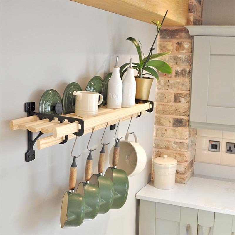 6 Lath Kitchen Shelf Rack