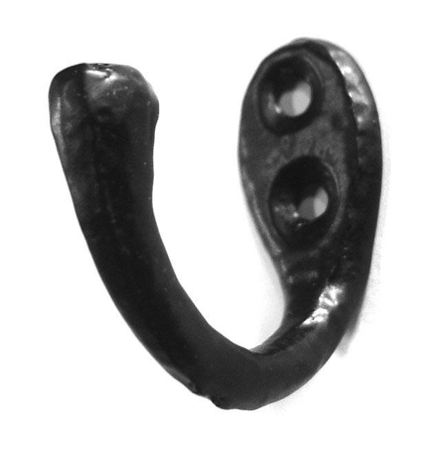 Single Loop Coat Hook - Black Finish