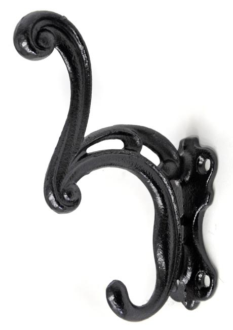 Image of Waterfall Curve Coat Hook - Black Finish