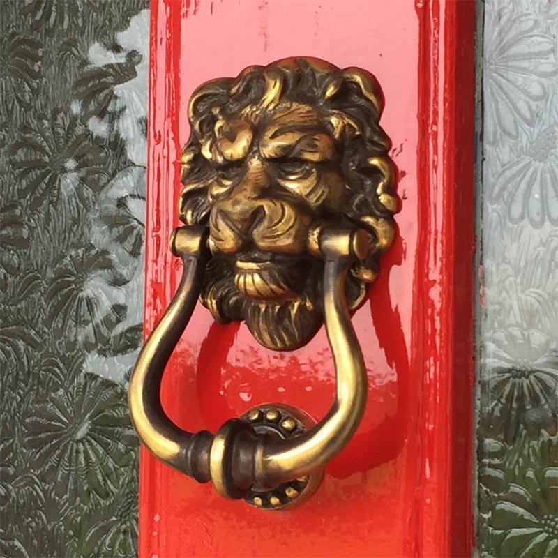 Majestic Brass Lions Head Door Knocker - Majestic Brass Lions Head Door Knocker Brass Door Knockers