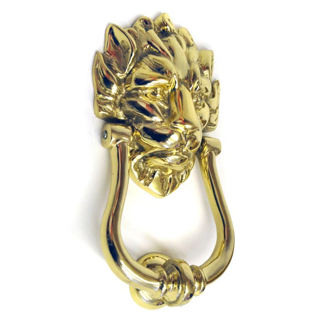 Brass Lion Head Knocker (Downing Street Knocker)