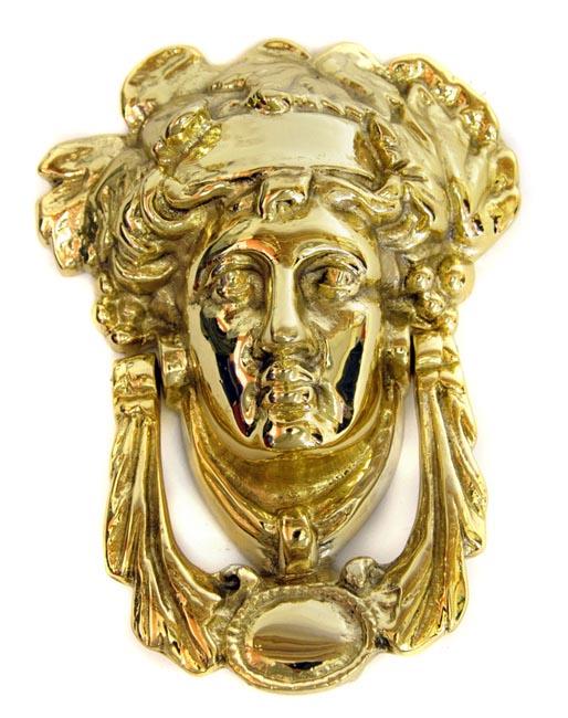 Brass Grecian Goddess Door Knocker