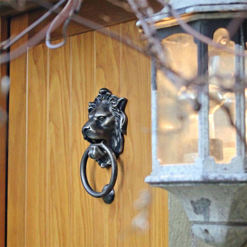 From The Anvil Regency Lions Head Door Knocker Antique