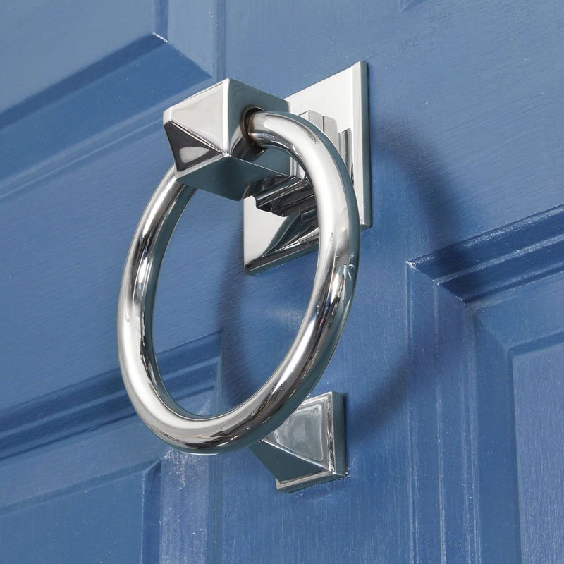 Bloomsbury Round Door Knocker - Polished Chrome