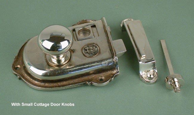 Cromwell Nickel Rim Latch Set