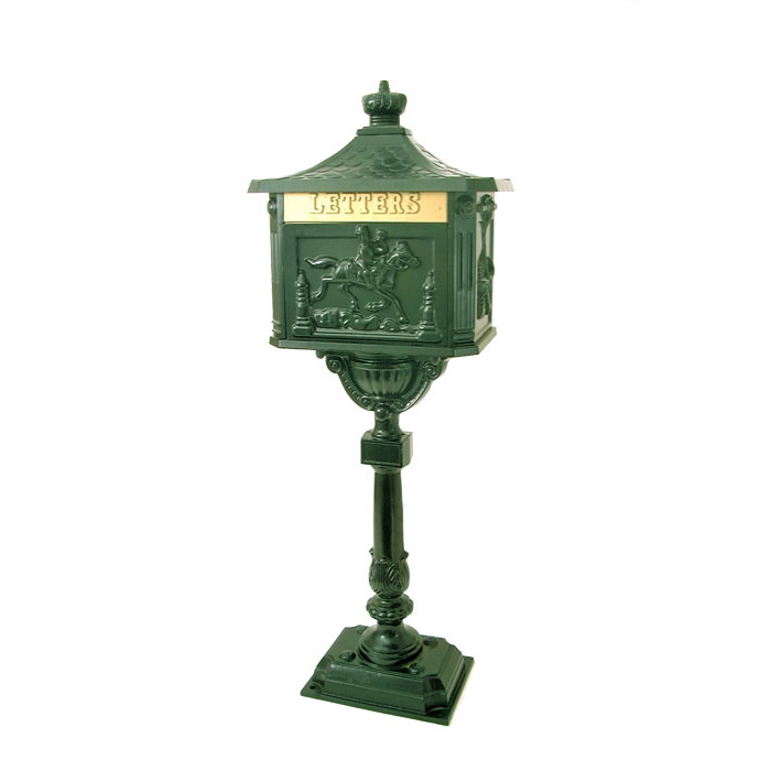 Home Accessories Free Standing Post Box -Green