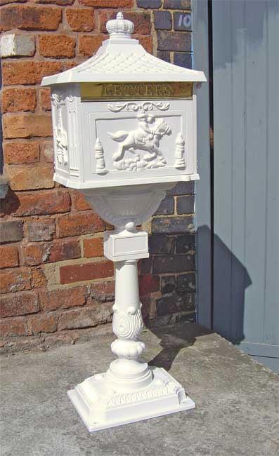 White Free Standing Post Box