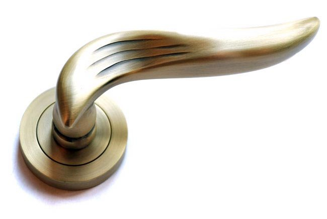 Oxford Lever Door Handle - Matt Antique Brass Finish - Oxford Lever Door Handle - Matt Antique Brass Finish Brass Lever