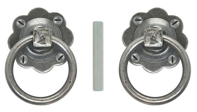 Blacksmith Pewter Patina Ring Handle Set