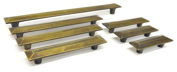 Antique Brass Nouveau Pull Handle - Antique Brass Nouveau Pull Handle Brass Drawer Handles And Pulls