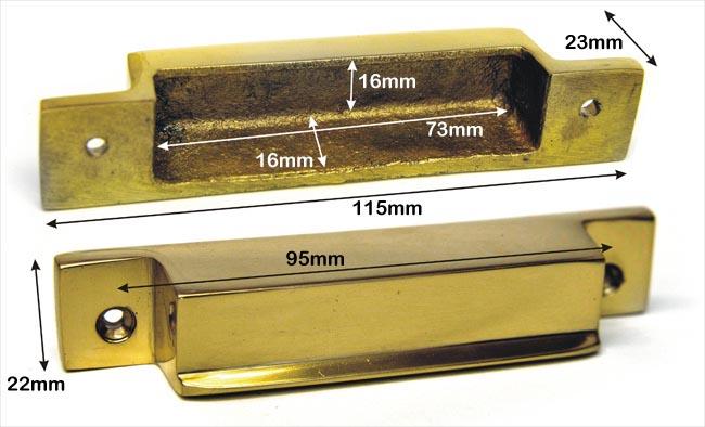 Brass Rim Lock Keep Number 8