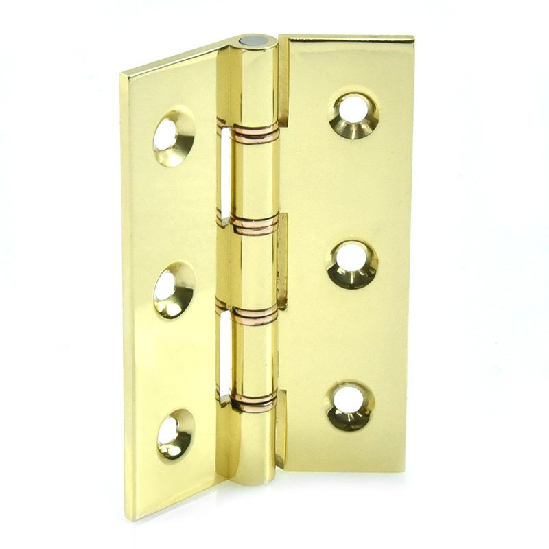 Croft Butt Hinges Polished Brass 3 Inch Double Steel Washered BH5