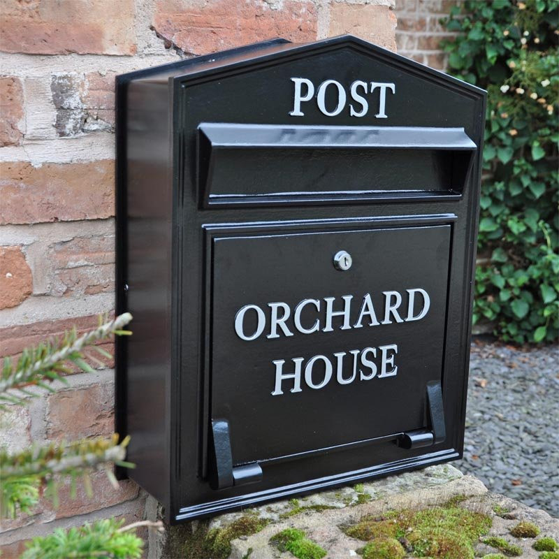 The Regency Slimline Wall Mounted Post Box Personalised