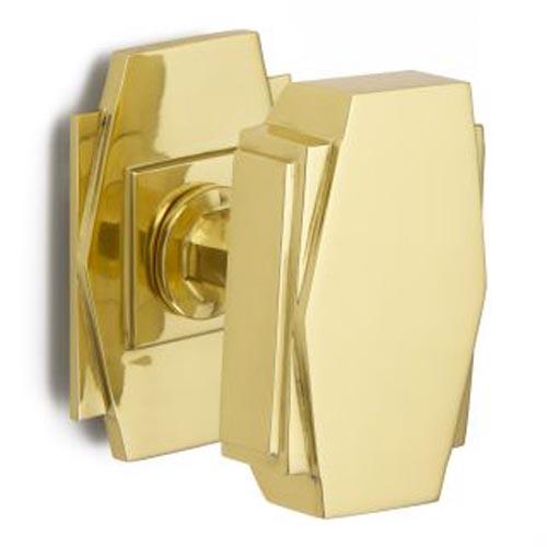 Croft Art Deco Centre Door Knob 7013 Brass Nickel Chrome Bronze