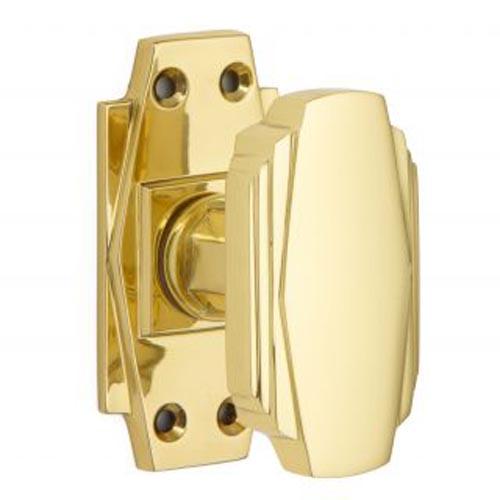 Croft Art Deco Door Knob 7005 Brass Nickel Chrome Bronze