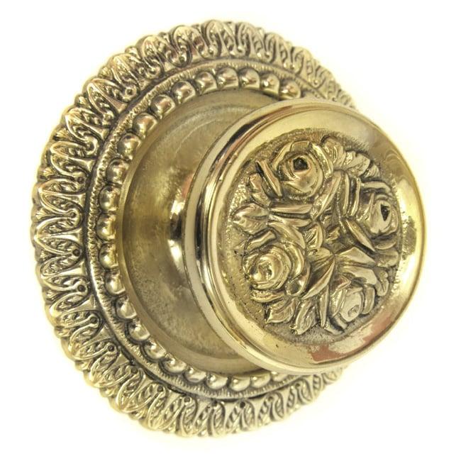 Brass Rose Centre Door Knob Brass Centre Door Knobs   Brass Door ...