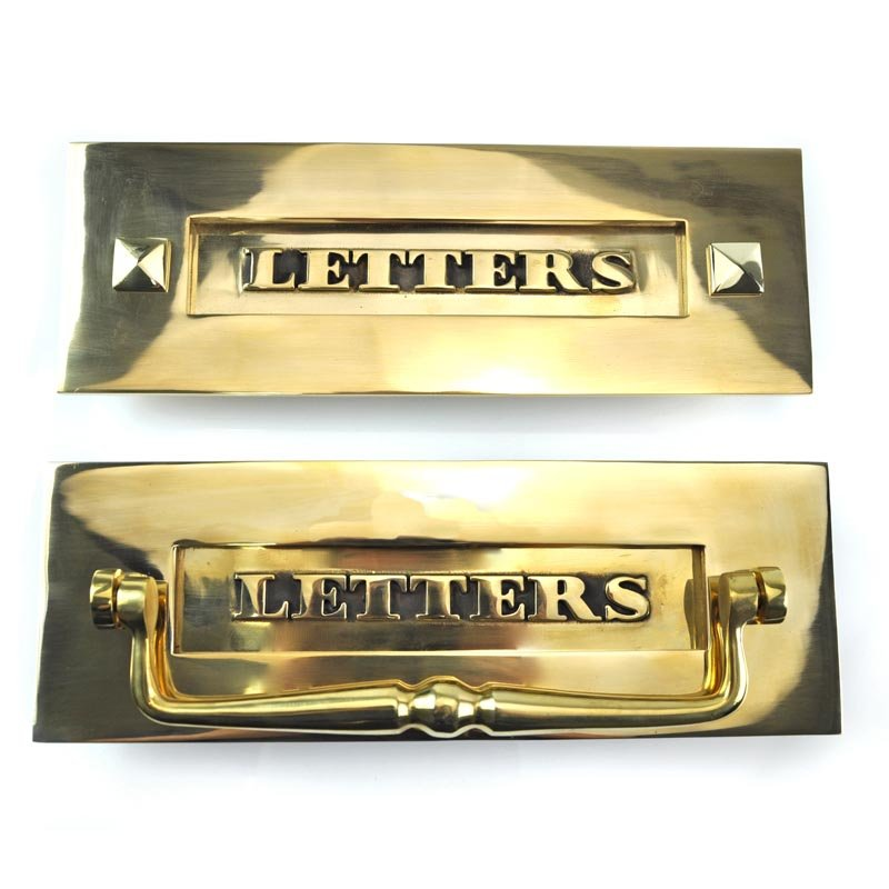 Classic Brass 'Letters' Letter Plate