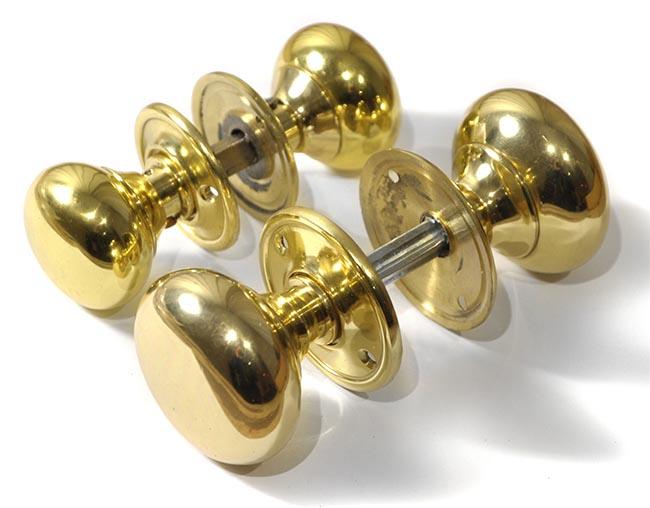 Polished Brass Country Door Knobs Brass Door Knobs   Door Furniture ...