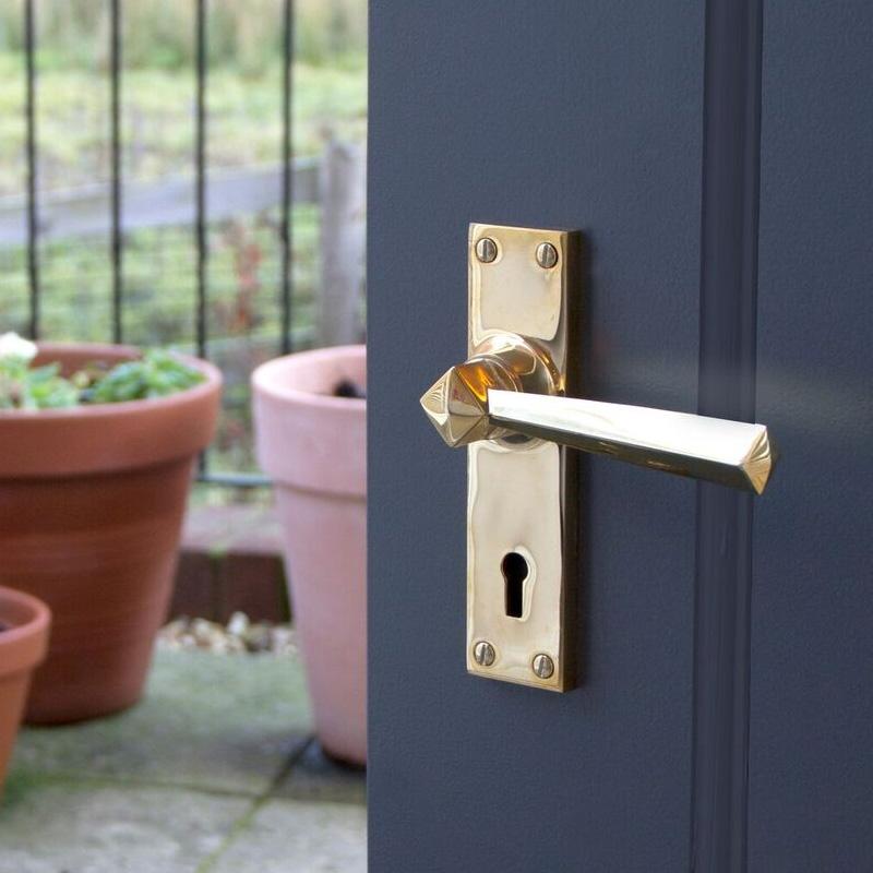 Polished Brass Straight Lever Door Handle