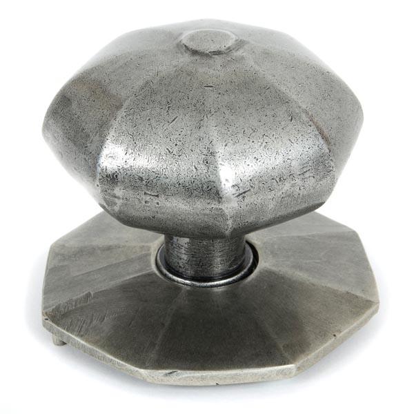 From The Anvil Blacksmith Pewter Patina Octagonal Centre Door Knob ...