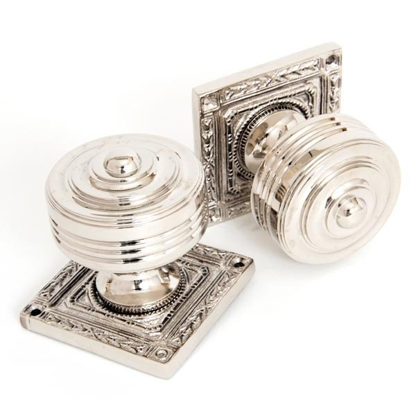 Tewkesbury Square Knob Set - Polished Nickel Finish