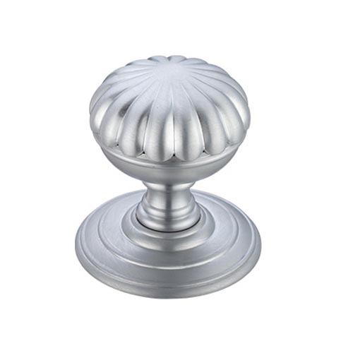 Satin Chrome Broadway Flower Door Knobs 70mm rose | Cast in Style