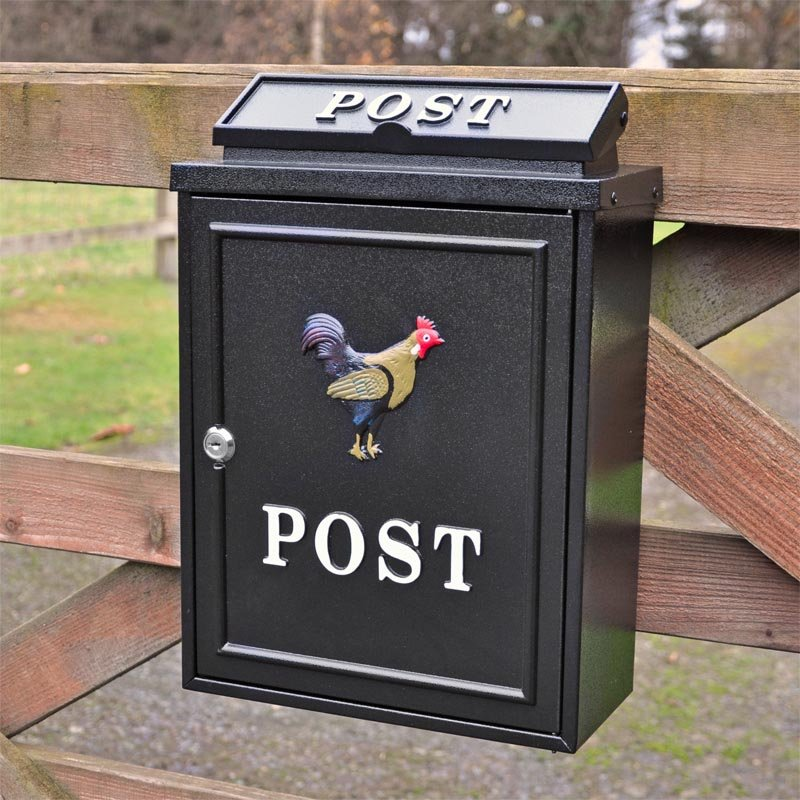 Cockerel Wall Mounted Post Box Through The Wall Post Boxes