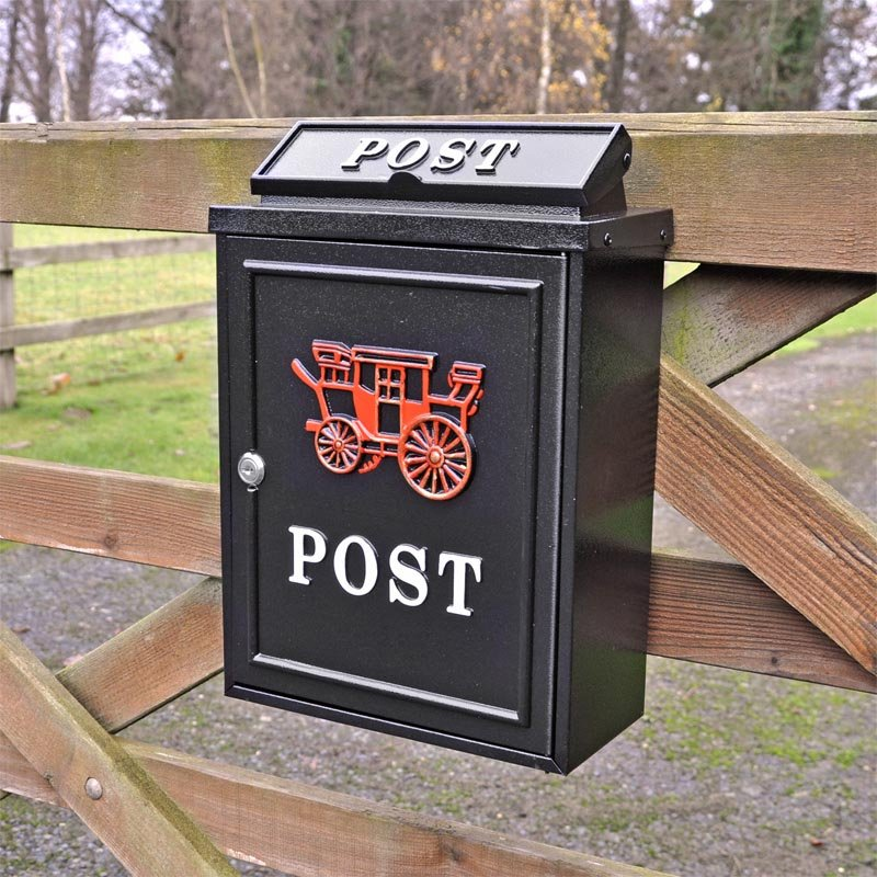 Letter Box Cover B Q: Carriage Wall Mounted Post Box Through The Wall Post Boxes